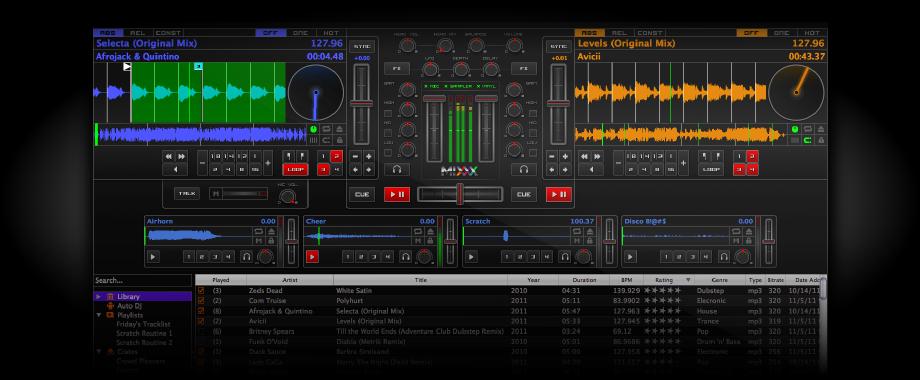 Programa para mezclar m�sica como DJ